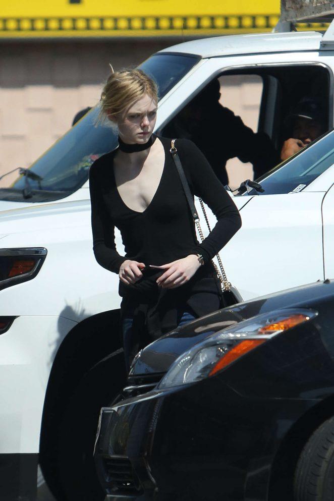 Elle Fanning at Baskin Robbins in Los Angeles