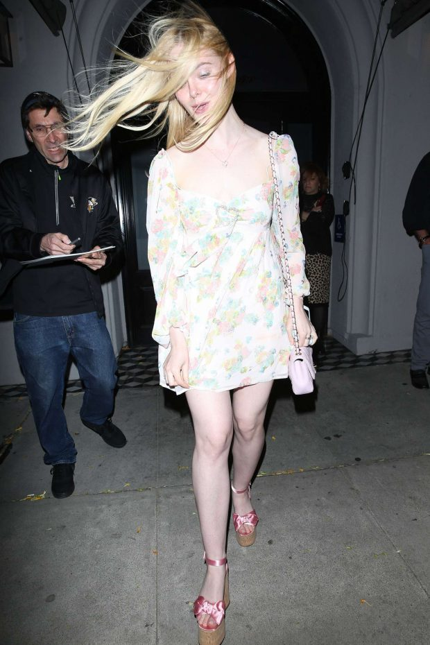 Elle Fanning at Craigs in West Hollywood -11