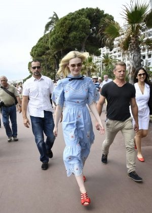 Elle Fanning at Croisette in Cannes