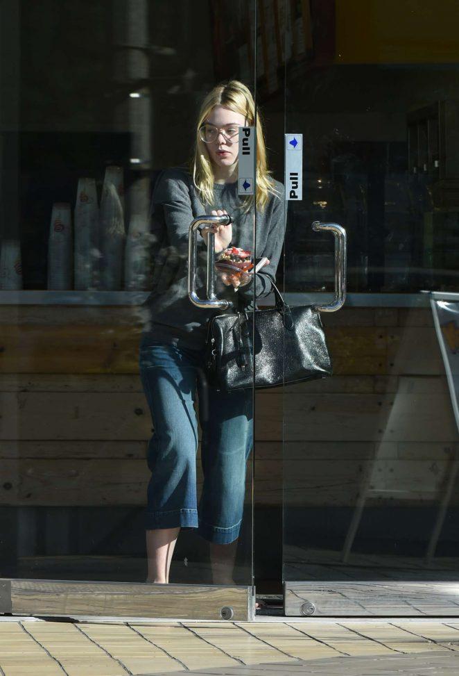 Elle Fanning at Jamba Juice in Los Angeles