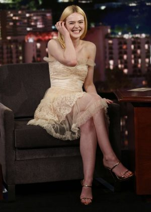 Elle Fanning at Jimmy Kimmel Live! in Los Angeles