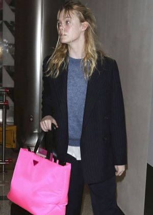 Elle Fanning at LAX International Airport in LA