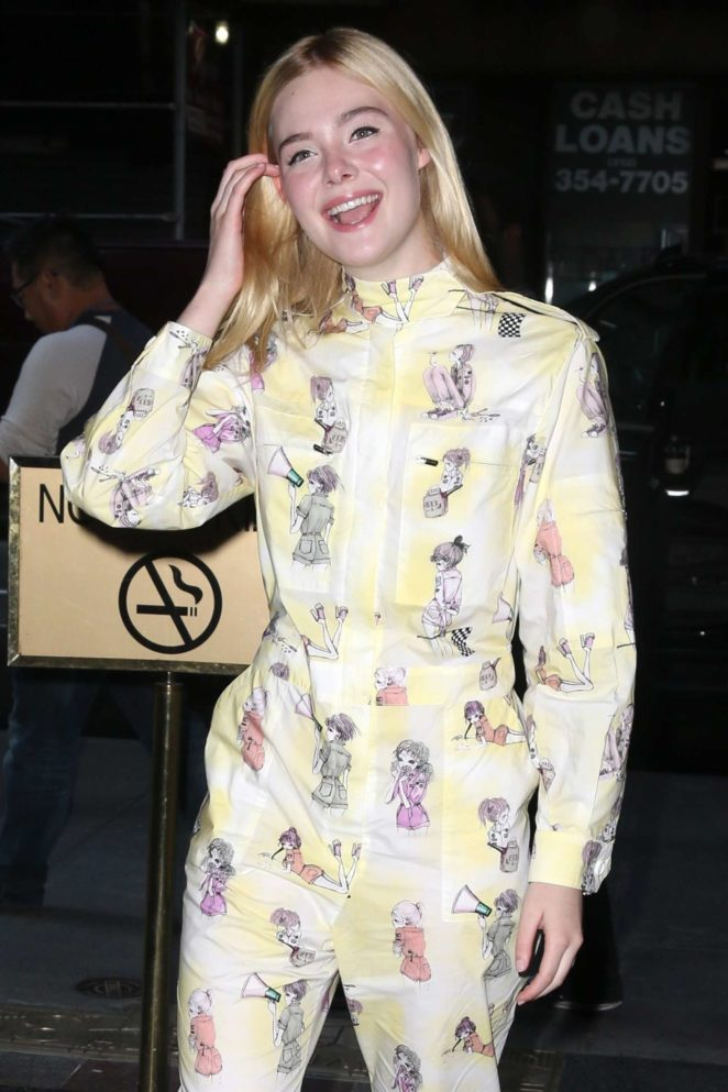 Elle Fanning at the 'TODAY' show in NYC