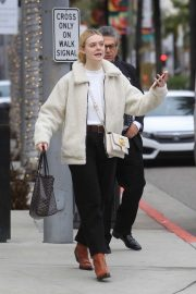 Elle Fanning - Christmas Shopping in Beverly Hills