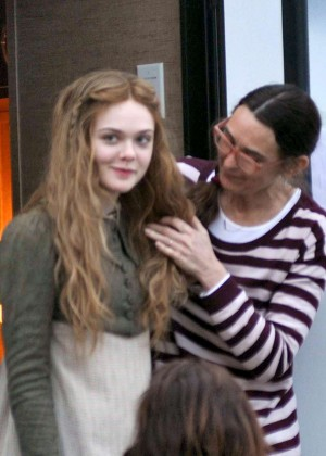 Elle Fanning - Filming 'A Storm In The Stars' in Dublin