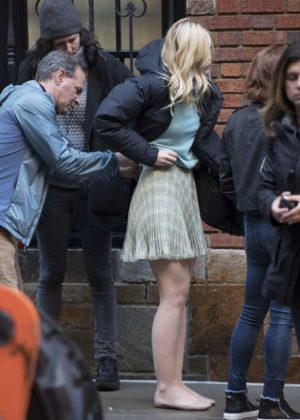 Elle Fanning - Filming new Woody Allen film in NYC