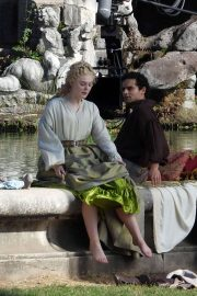 Elle Fanning - Filming 'The Great' in Caserta