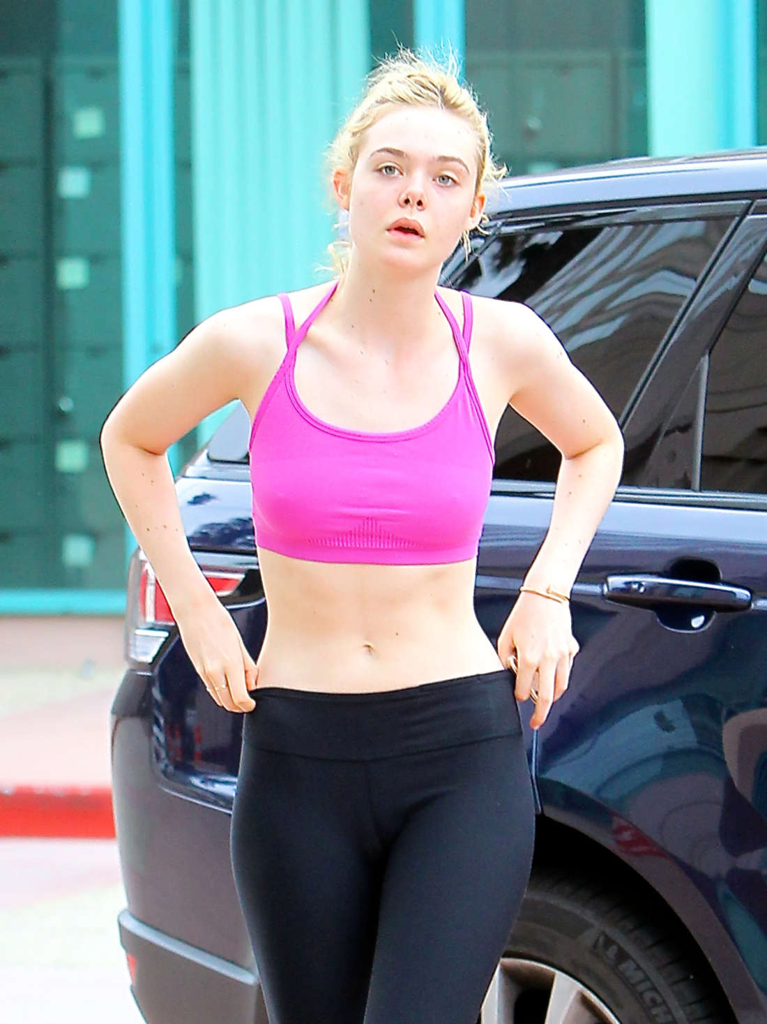 Elle Fanning - Going to the gym in LA | GotCeleb