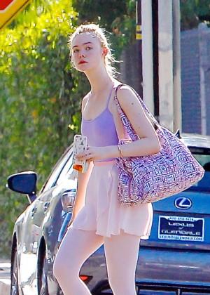 Elle Fanning - Heads to Ballet Class in LA