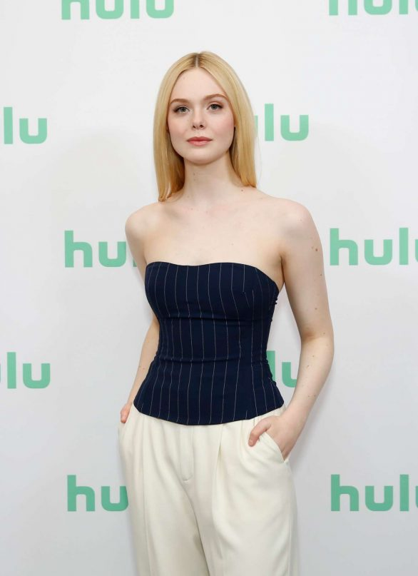 Elle Fanning - Hulu Panel at Winter TCA at The Langham Huntington in Pasadena