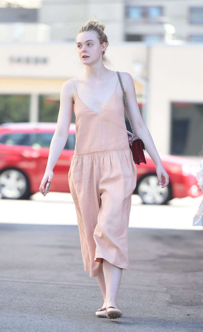 Elle Fanning in Long Dress -06