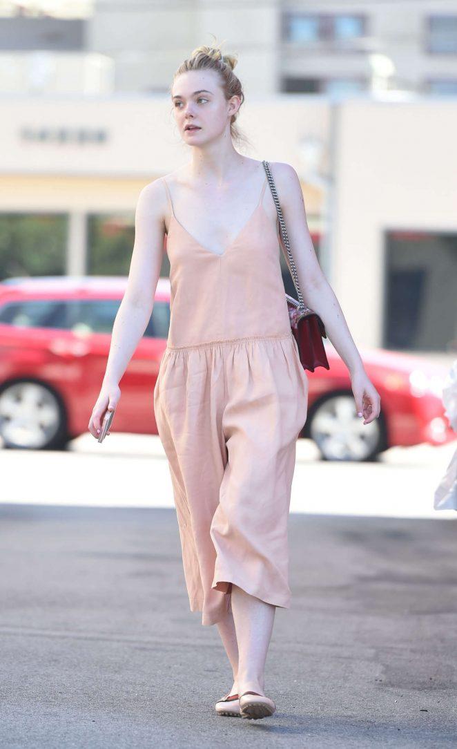 Elle Fanning in Long Dress -06