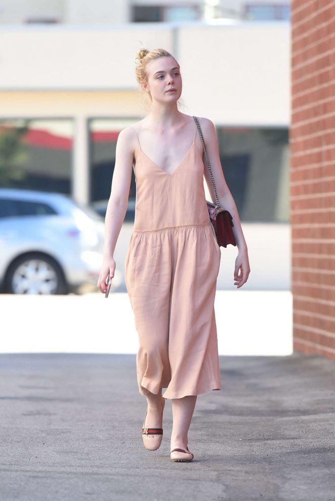 Elle Fanning in Long Dress -08