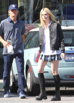 Elle Fanning in Short Skirt -05