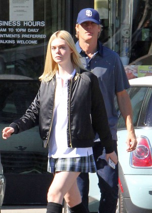 Elle Fanning in Short Skirt -07