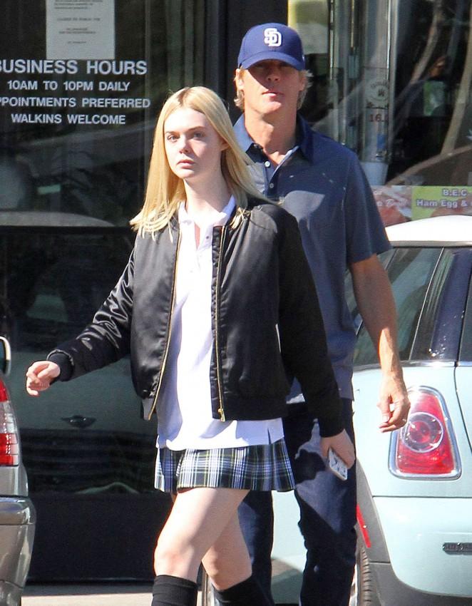 Elle Fanning in Short Skirt -07