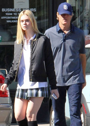 Elle Fanning in Short Skirt -08
