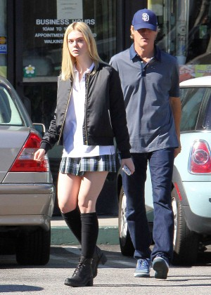 Elle Fanning in Short Skirt -09
