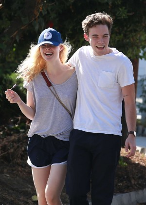 Elle Fanning and Zalman Band in Studio City