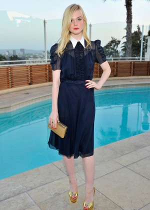 Elle Fanning - Intimate Dinner at The Sunset Tower Hotel in West Hollywood