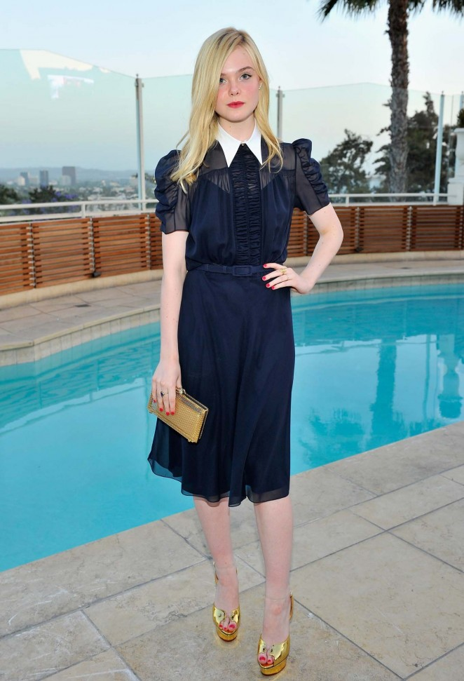 Elle Fanning – Intimate Dinner at The Sunset Tower Hotel in West Hollywood