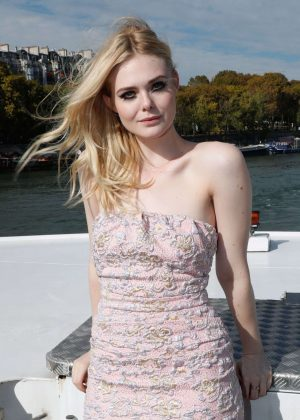 Elle Fanning - L'Oreal Fashion Show After Party in Paris