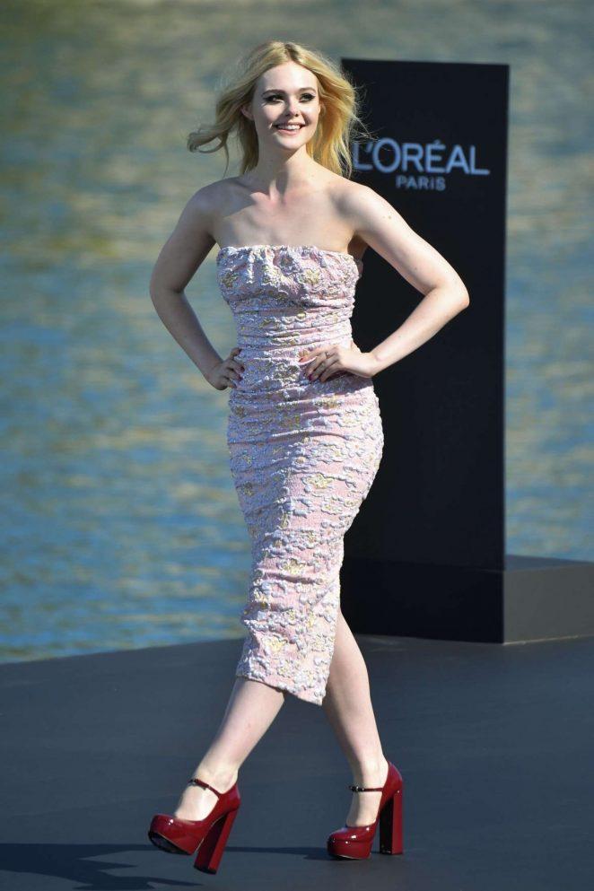 Elle Fanning - L'Oreal Runway Show in Paris