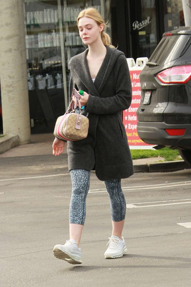 Elle Fanning - Leaves Her Workout in Los Angeles