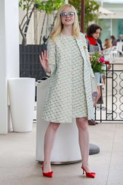 Elle Fanning - Leaves Martinez Hotel in Cannes