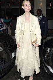 Elle Fanning - Leaves the London Critics' Circle film Awards in London