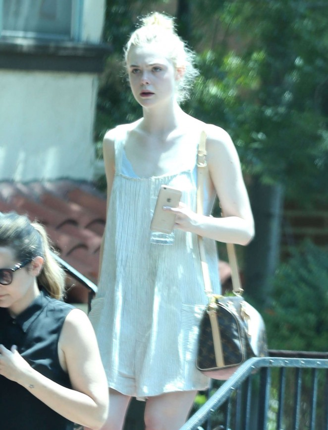 Elle Fanning in Short Dress -04
