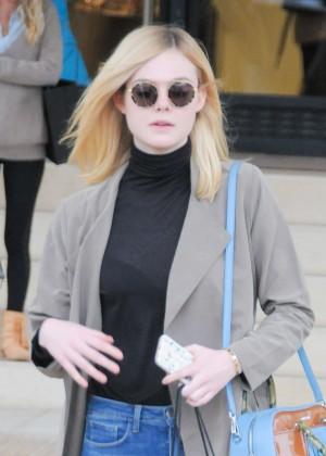 Elle Fanning - Leaving Barney's New York in Beverly Hills