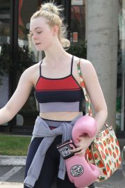 Elle Fanning - Leaving her boxing workout in Rancho Santa Margarita