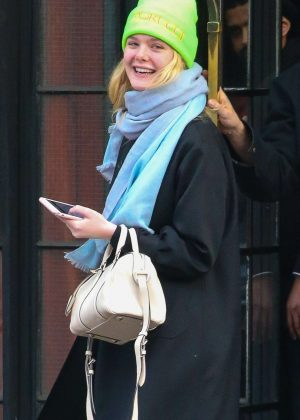 Elle Fanning - Leaving her hotel in NYC