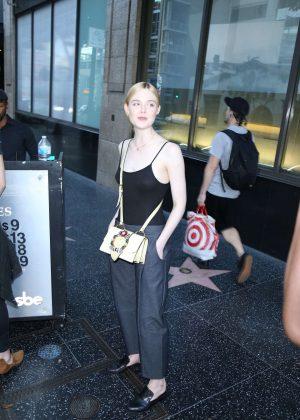 Elle Fanning - Leaving Katsuya Restaurant in Hollywood