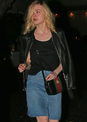 Elle Fanning - Leaving the Chateau Marmont in West Hollywood