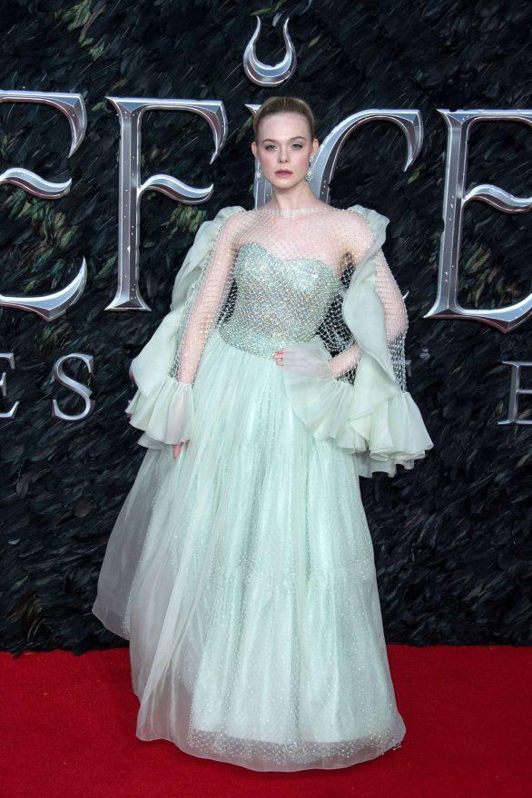 Elle Fanning - 'Maleficent: Mistress of Evil' Premiere in London
