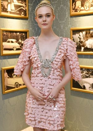 Elle Fanning - Miu Miu Dinner at Haute Couture Fashion Week in Paris