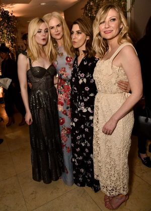 Elle Fanning Nicole Kidman Sofia Coppola and Kirsten Dunst - 'The Beguiled' Premiere After Party in LA