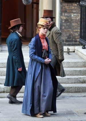 Elle Fanning on 'A Storm in the Stars' set in Dublin