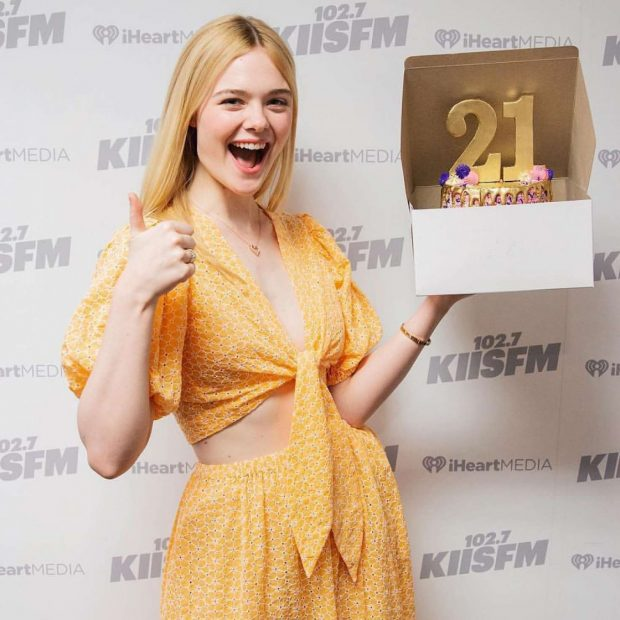 Elle Fanning - On Air with Ryan Seacrest in LA
