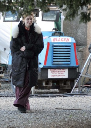 Elle Fanning - On set of 'A Storm in the Stars' in Dublin