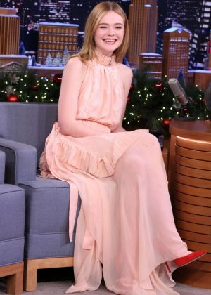 Elle Fanning on 'The Tonight Show Starring Jimmy Fallon' in NY
