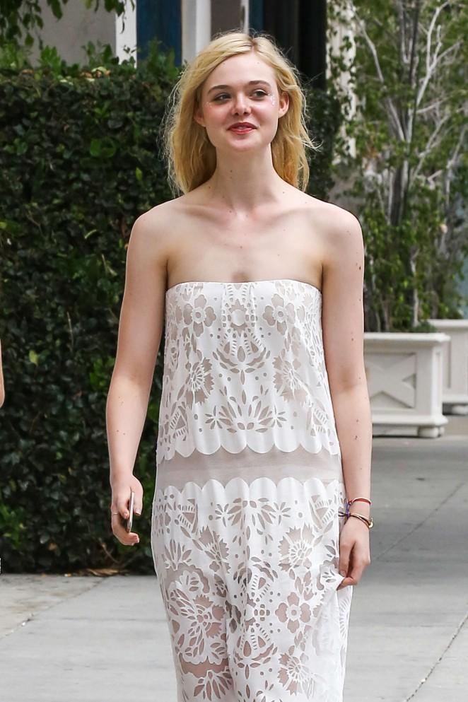 Elle Fanning in Long Dress -09