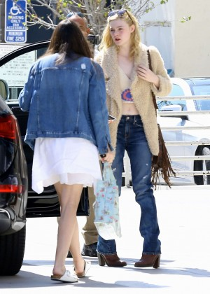 Elle Fanning: Out and about in Beverly Hills -03
