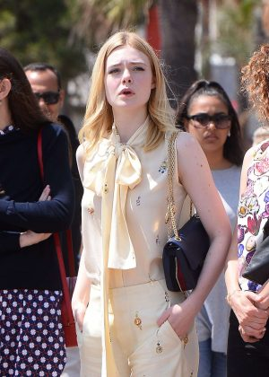 Elle Fanning - Out and about in Cannes