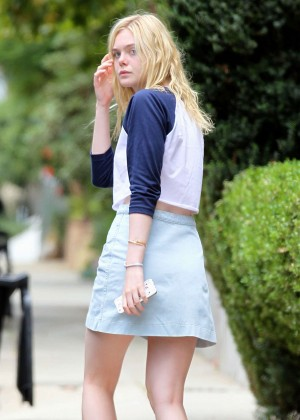 Elle Fanning in Skirt Out in Hollywood