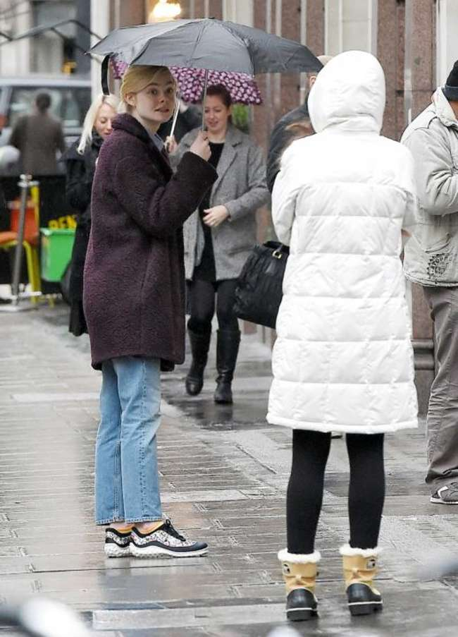 Elle Fanning - Out and about in London