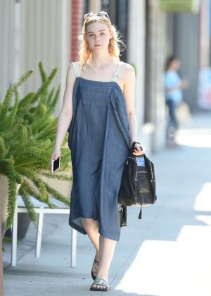 Elle Fanning - Out and about in Los Angeles