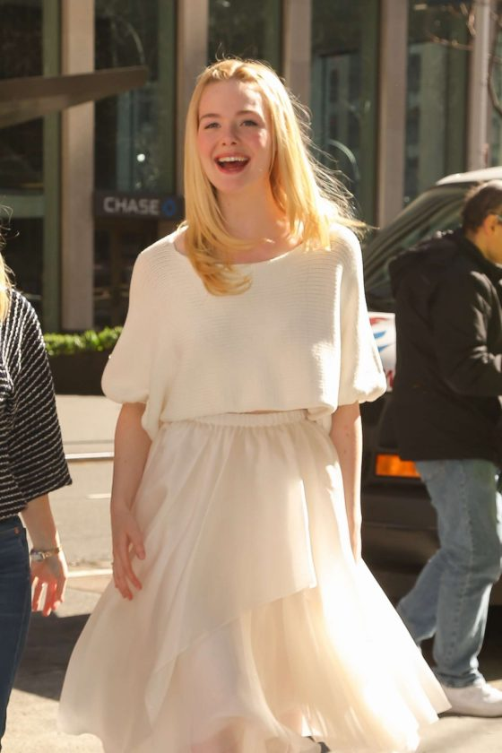 Elle Fanning - Out and about in New York